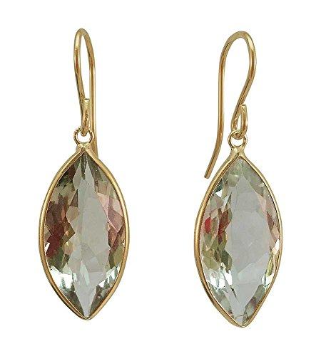 Gold Marquise Amethyst Earrings - 6