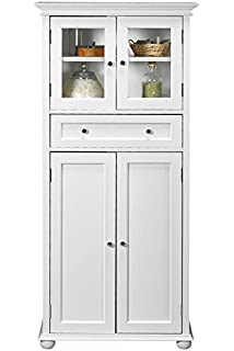 hampton bay 1 drawer tall bath cabinet 4door white - Corner Bathroom Cabinet