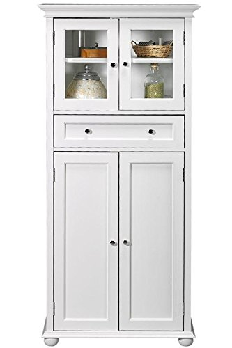 Hampton Bay 1 Drawer Tall Bath Cabinet, 4 DOOR, WHITE