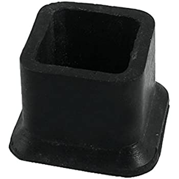 Flyshop Square Rubber Leg Tips Covers Furniture Protectors 1 1/5 Inch X 1 1