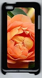 Peony Polycarbonate Hard Case Cover for iPod 4/ iPod 4th ¨CBlack