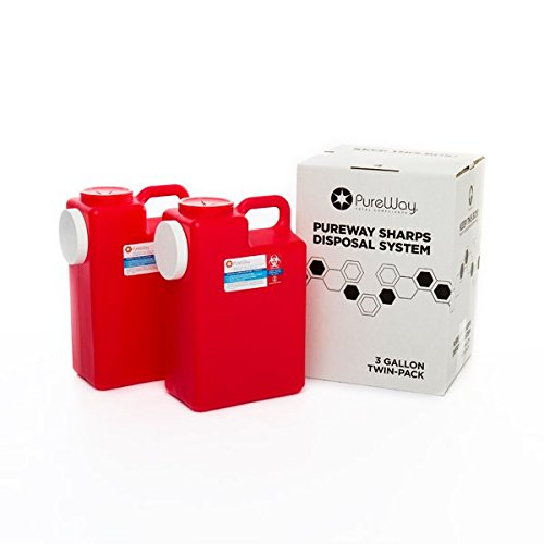 Pureway Sharps 3 Gallon Two-Pack Disposal System 40023 by Pureway