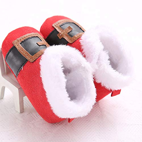 Christmas Style Toddler Baby Infant Kids Boys Girls Soft Plush Sole Shoes