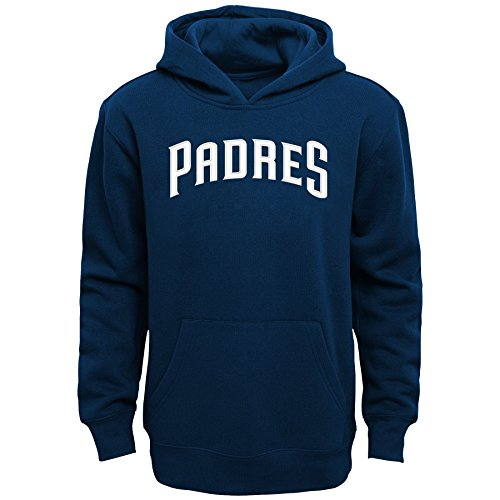 (Outerstuff MLB San Diego Padres Boys 4-7 TM clr Embroidered Wdmk Hood,M (5-6),Athletic Navy)