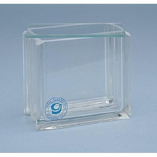 General Glass Blowing 60-3TL Developing Tank, Thinline, 10cm with Latch Lid, 1'' Height, 1'' Wide, 1'' Length