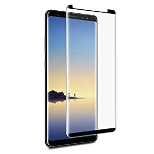 Samsung Galaxy Note 8 Glass Screen Protector from Tech Armor, 3D Curved Ballistic Glass, CASE-FRIENDLY, Black - [1-Pack]
