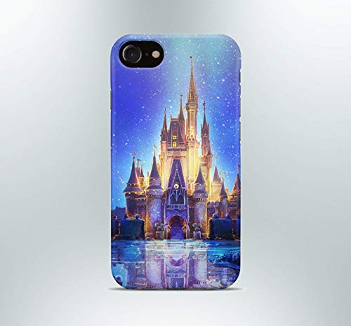 Inspired by Disney phone case Apple iPhone 7 plus X XR XS Max 8 6 6s 5 5s se Samsung galaxy s8 s7 edge s6 s5 s4 note 9 8 mobile cover castle disneyland art print