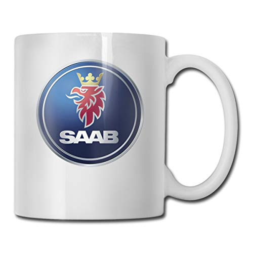 KAIFENG Customized General Motors Saab Logo Mug For Hot/Cold Drink Coffee Or Tea For Women White