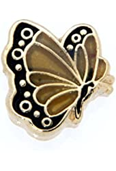 April Butterfly Enamel Birthmonth Charm for Floating Lockets