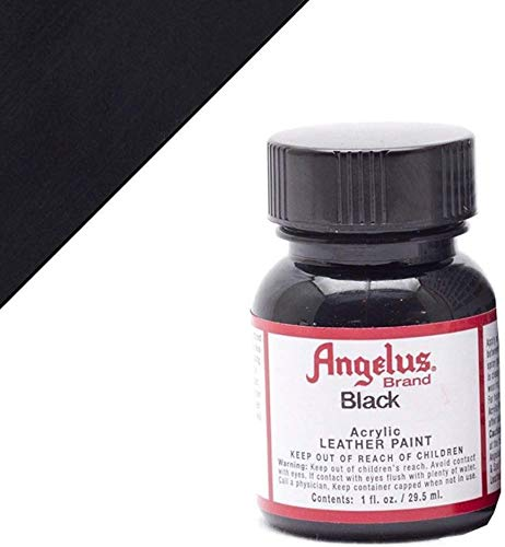 Angelus Acrylic Leather Paint, Black, 1 oz.