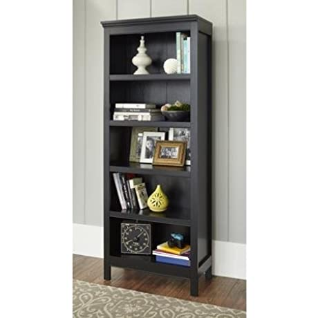 Sturdy 10 Spring Street Burlington Collection 5 Shelf Bookcase Black
