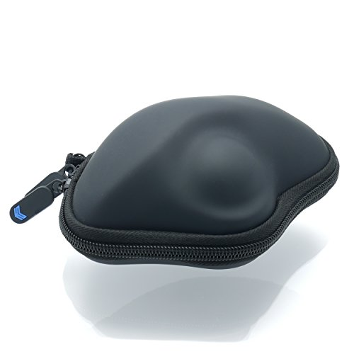 SABER Compact Travel Hard Padded Protective Case For Logitech Trackman M570 (Ps2 Trackman Wheel)