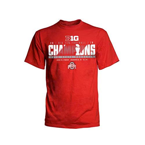 JAmerica Ohio State Buckeyes 2018 Big 10 College Football Champ Locker Room T-Shirt (M)