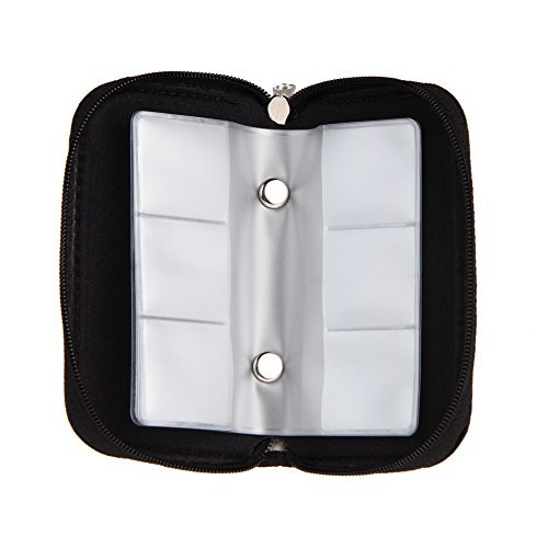 broadroot 1Tragbar Speicherkarte Storage Bag Case Nylon, der Halter Wallet für CF/SD/SDHC/MS/DS 3DS Game Schwarz
