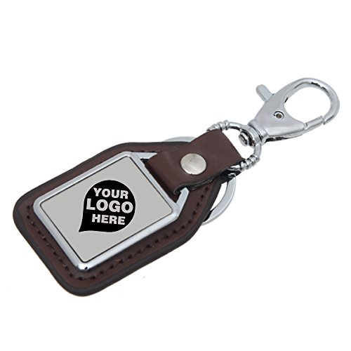 Leather & Steel Multiple Hooks Keychain - 12 Quantity - $18.69 Each - PROMOTIONAL PRODUCT / BULK / BRANDED with YOUR LOGO / CUSTOMIZED ()