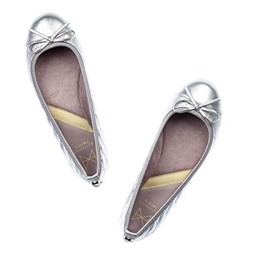 Olivia Twists Punta matt Butterfly Ballerine 179 Argento Ii Donna Silver Chiusa w5PqqfId