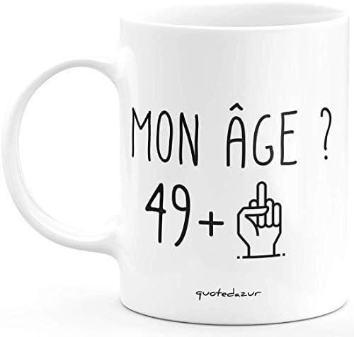 Mug 50 Ans Rigolo drôle – Tasse Cadeau Anniversaire cinquante ans cinquantaine Homme Femme Humour Original