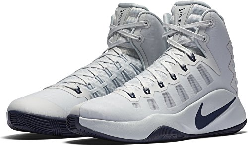 Nike Hyperdunk 2016 PURE PLATINUM/MIDNIGHT NAVY-BLACK Men's Basketball Shoes Size 10.5