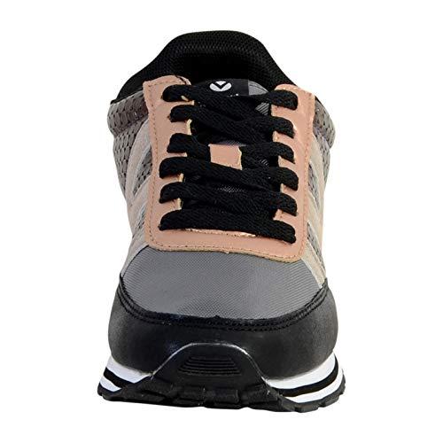 Negro Zapatillas Ciclista Mujer Deportivo Para Victoria Negro Multi 10 SFwZZY