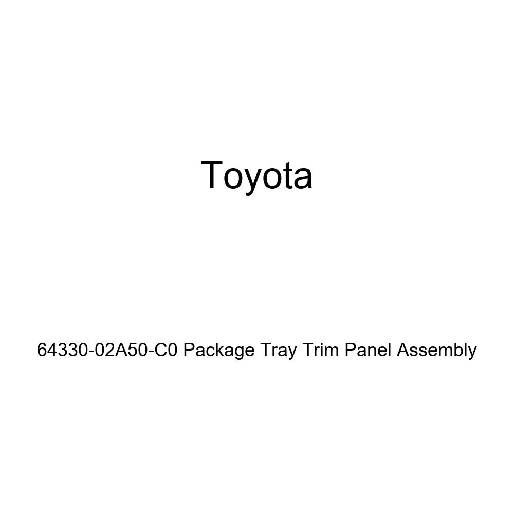 TOYOTA Genuine 64330-02A50-C0 Package Tray Trim Panel Assembly