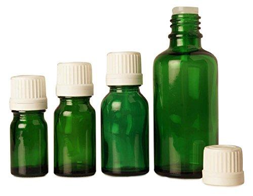 Lot of 100 x 5 ml Empty Green Glass Bottles Tamper Eviden...