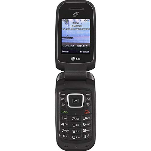 Tracfone LG 441G Prepaid Cell Phone (Tracfone White Box) with Charger Minutes Flip Phone Easy to use