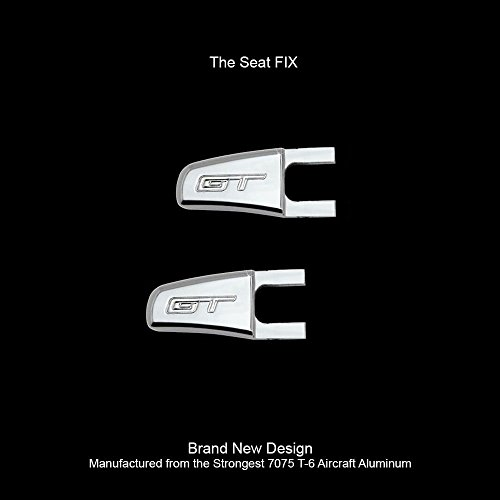 UPR 2005-2014 Mustang Billet Seat Release Levers GT Logo Satin - The FIX !