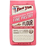 Bobs Red Mill Flour, White Pastry Unbleached, 5 Pound (Pack of 4)