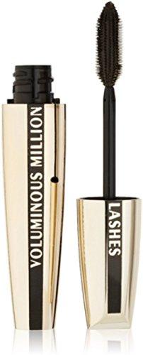 L'Oreal Voluminous Million Lashes Mascara, Black [645] 0.29 oz (Pack of 6)