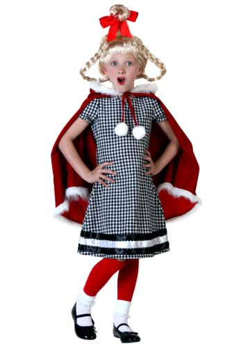 Big Girls' Christmas Girl Costume - L