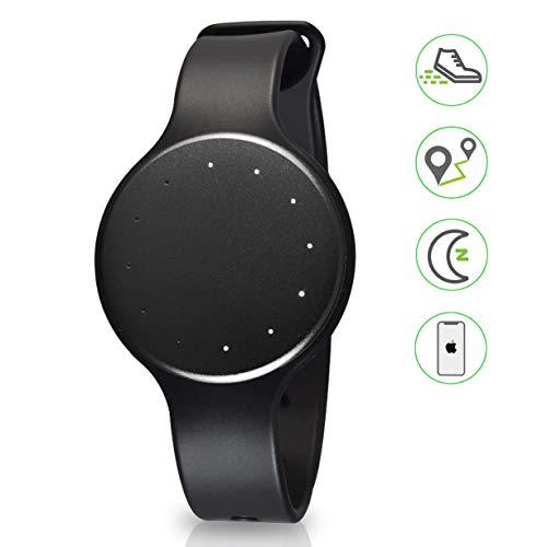 Bluetooth Smart Activity Fitness Tracker - Waterproof Sport Multifunction Sports Running Wrist Watch Gear w/ Sleep Monitor, Pedometer, Fitness Tracker for Women/Men - Pyle PSB1BK.5 (Black) (Renewed)