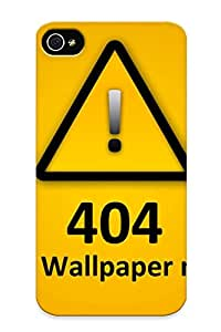 Ellent Design Wallpaper Not Found Case Cover For Iphone 4/4s For New Year's Day's Gift