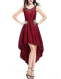 OTEN Women's Party Sleeveless Bridesmaid High-Low Cocktail Evening Dress