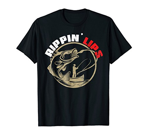 Bass Fishing Shirts For Men Funny Fishing TShirt Rippin ()