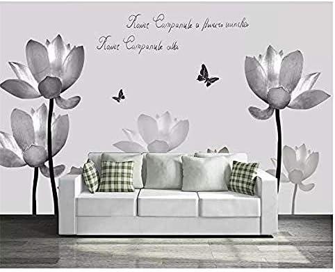 Djskhf カスタム写真の壁紙黒と白英語蓮自己印刷家の装飾アート寝室3D Hd壁紙シーンと接着剤リビング 280X200Cm