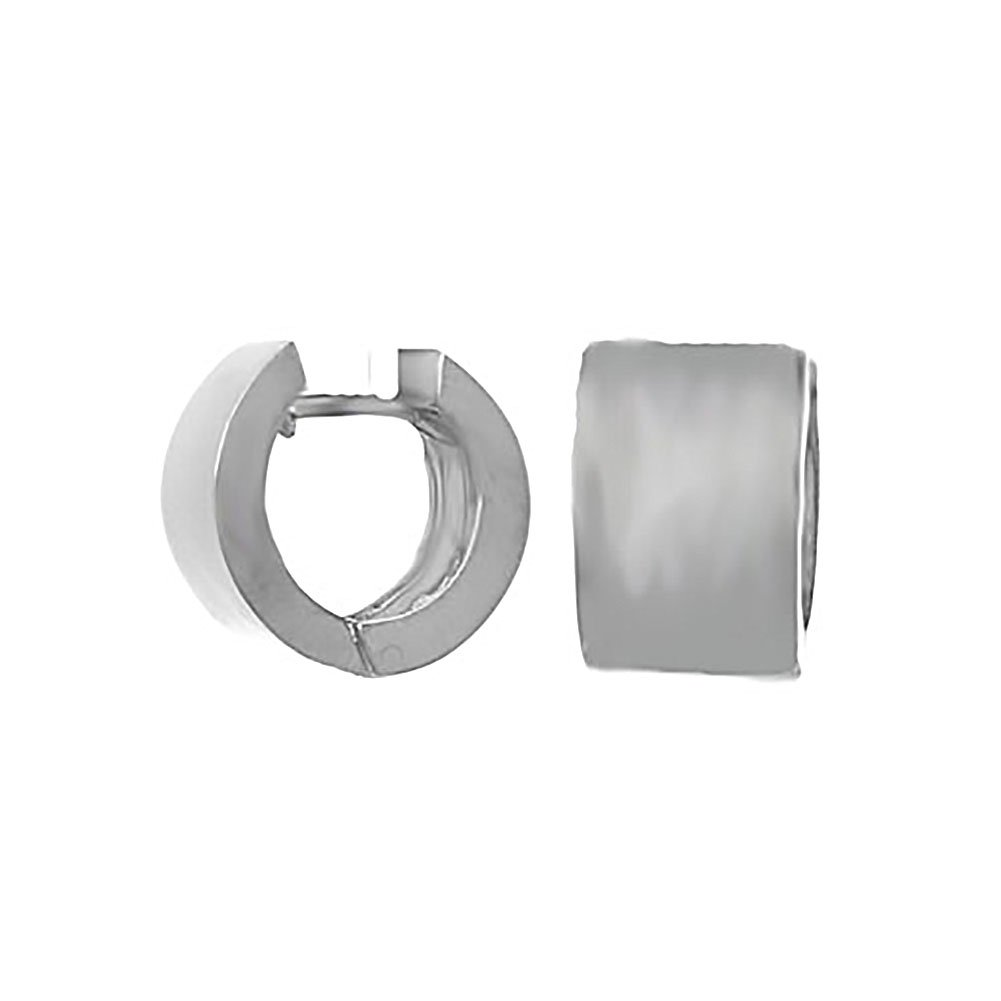 925 Sterling Silver Trend Round Cuff Earrings, High Polish 9mm