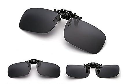 0201a868675 EDTara Polarized Glasses for Men Women Day Night Vision Driving Sunglasses  Clip-on Flip-