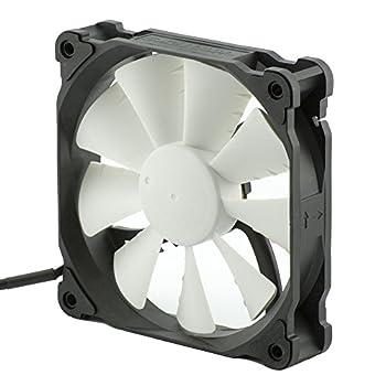 Phanteks 500-1500RPM, PWM Frame/Blades, 12025, 120mm Case Fan Retail Cooling PH-F120XP_BK Black/White
