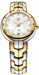 Tag Heuer Link Two-tone Diamond Ladies Watch; White mother of pearl dial WAT1353.BB0962