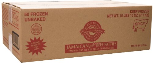 Jamaican Style Patties, Unbaked (Spicy Beef, 1 Case)