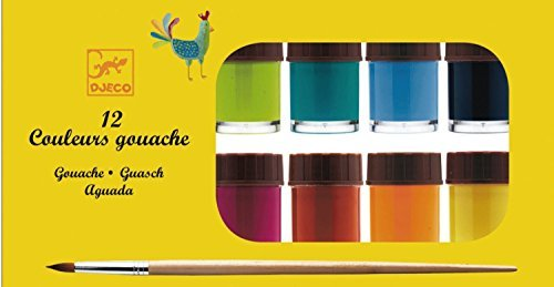 Djeco 12 Classic Gouache Paint Pots ()