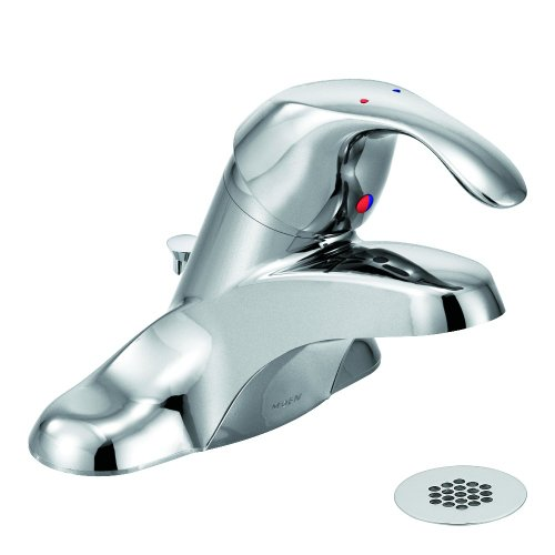 Moen 8434 Commercial M-Bition 4-Inch Centerset Lavatory Faucet with Grid Strainer 1.5 gpm, (Lavatory Pop Up Grid Assembly)