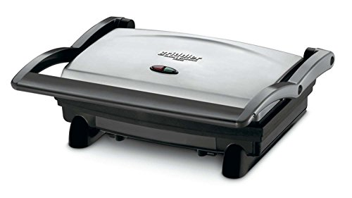 Cuisinart GR-1FR Cuisinart GR-1 Griddler Panini and Sandwich Press (Renewed), Stainless Steel (Cuisinart Grill And Panini Maker Gr 11)