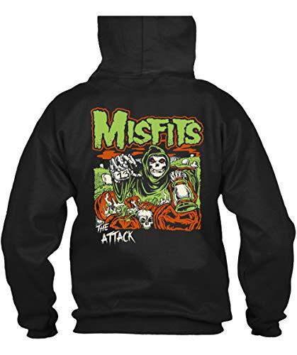 Misfits Anniversary Band T Shirt, Misfits T Shirt, American Punk Rock Band T Shirt - Hoodie (L, Black)