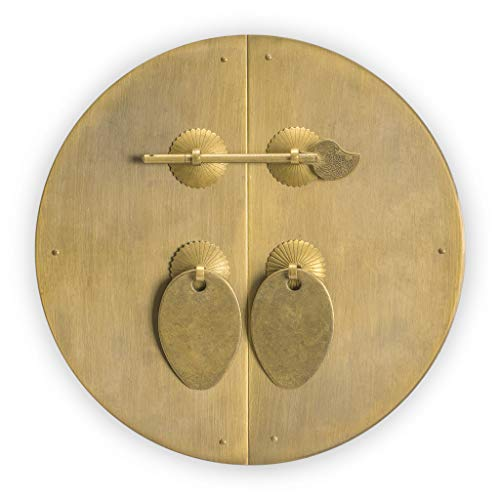 Incroyable Chinese Brass Hardware Classic Round Cabinet Face Plate 8 5/8u0027u0027 By