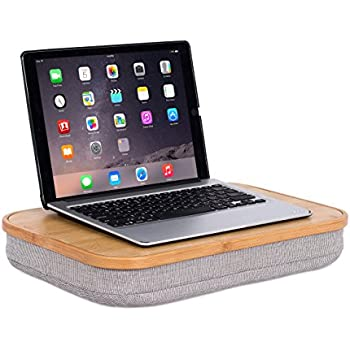 Merveilleux BirdRock Home Bamboo Lap Desk With Laptop Storage Compartment | Pillow  Cushioned Laptop Accessories Book Stand