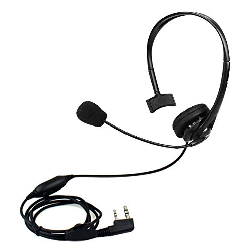 Retevis Two Way Radio Earpiece with Mic Noise Cancelling Headset for Kenwood Retevis RT21 RT22 RT27 Baofeng UV-5R UV-82 BF-F8HP Walkie Talkie (1 Pack)