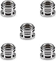 "Neewer 5 Pieces Metal 1/4"" to 3/8"" convert screw adapter reducer bushing for Camera Tripod Monopod Ballhead"