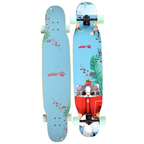 HYE-SPORT Longboard Dancing Skateboard 46 Inches Long X 9.8 Inch Wide Deck for Kids/Boys/Girls/Youth/Adults Tricks Skate Board by HYE-SPORT (Image #5)