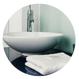 alfombrilla de ratón Cuarto de baño azul toallas lavabo mostrador de vidrio soluble - ronda - 20cm